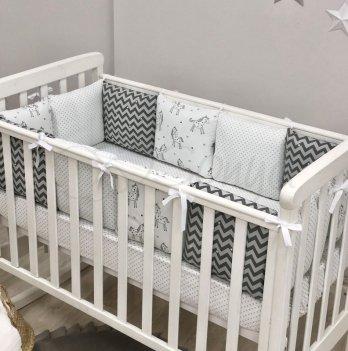 Комплект бортики и простынь Маленькая Соня Baby Design Единорог 0720380