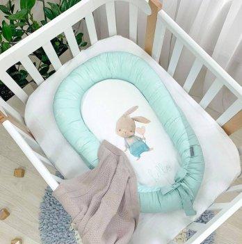 Кокон для новорожденных Маленькая Соня Art Design Ку-ку Мятный 5039500