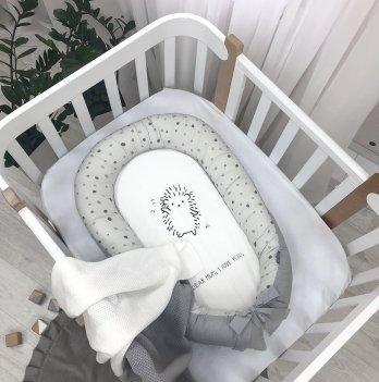 Кокон для новорожденных Маленькая Соня Art Design Ёжик Серый 5039496