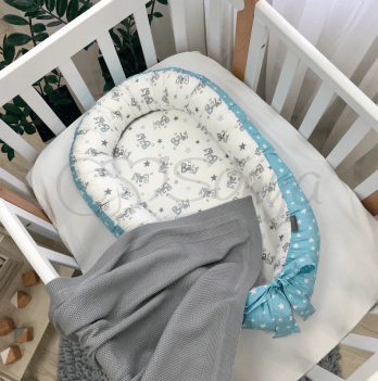 Кокон для новорожденных Маленькая Соня Baby Design Baby серо-голубой Голубой 5019462