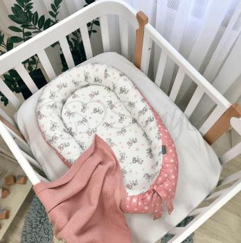 Кокон для новорожденных Маленькая Соня Baby Design Baby серо-пудровый Розовый 5019461