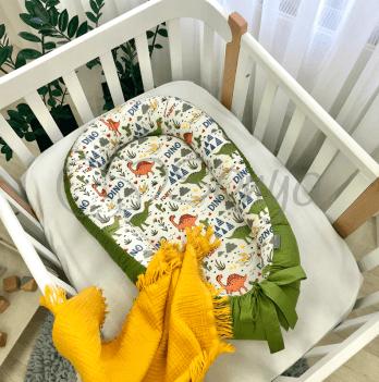Кокон для новорожденных Маленькая Соня Baby Design Дино олива Оливковый 5019463