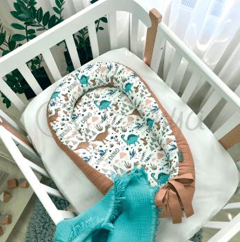 Кокон для новорожденных Маленькая Соня Baby Design Дино терракот Терракотовый 5019464