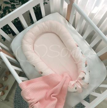 Кокон для новорожденных Маленькая Соня Baby Design Перо пудра Розовый 5019404