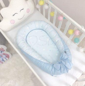 Кокон для новорожденных Маленькая Соня Baby Design Звезды на голубом Голубой 5019375