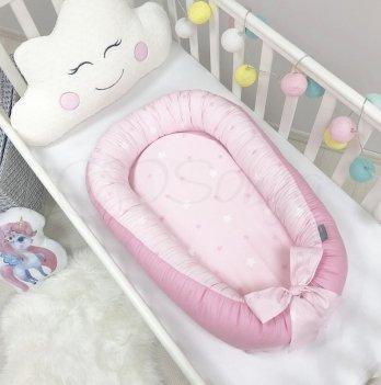 Кокон для новорожденных Маленькая Соня Baby Design Звезды на розовом Розовый 5019376