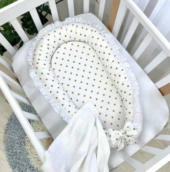 Кокон для новорожденных Маленькая Соня Shine Золото Белый/Золотой 5047192