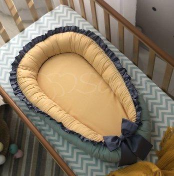 Кокон для новорожденных Маленькая Соня Универсальный Зеленый/Желтый 5000437