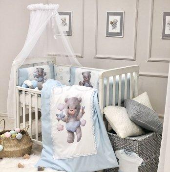 Комплект постельного белья Маленькая Соня Kids toys Мишка Голубой 0169203