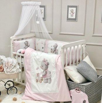 Комплект постельного белья Маленькая Соня Kids toys Мишка Розовый 0169204