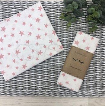 Пеленка для детей бязь Маленькая СоняБелый-Розовый4667590