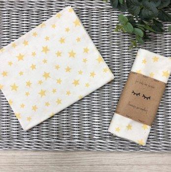 Пеленка для детей бязь Маленькая СоняБелый-Желтый4667583