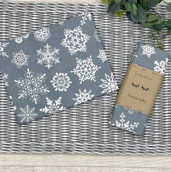 Пеленка для детей бязь Маленькая СоняСнежинки белые на сером Серый4667747