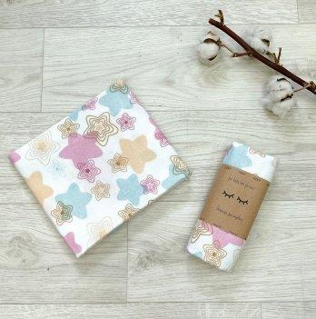 Пеленка для детей фланель Маленькая СоняПряники розовыеБелый/Розовый466588