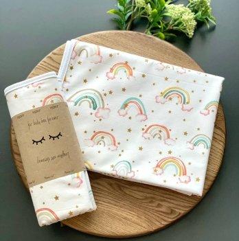 Непромокаемая пеленка для детей Маленькая СоняРадуга на розовомРозовый115724
