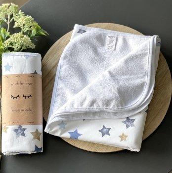 Непромокаемая пеленка для детей Маленькая СоняЗвезды акварельные синиеБелый/Синий115707