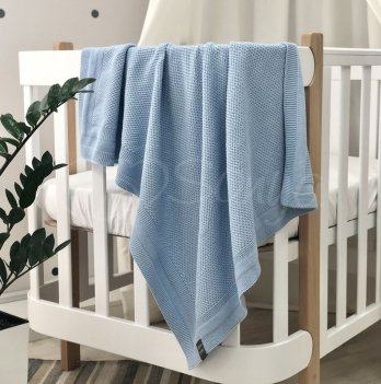 Пледдля новорожденных вязаный Маленькая Соня Рогожка Голубой935307