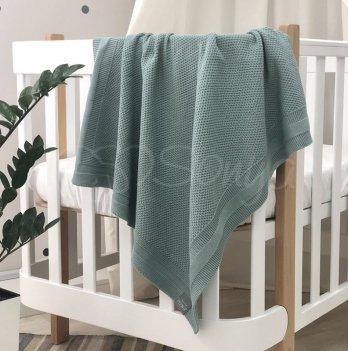 Пледдля новорожденных вязаный Маленькая Соня Рогожка Мятный9353389