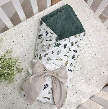 Плед конверт для новорожденных Маленькая Соня Ель сатин Зеленый 5400504