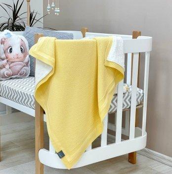 Пледдля новорожденных вязаный Маленькая Соня WellSoftРогожка Желтый935104