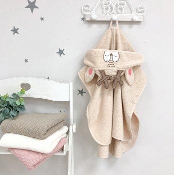 Детское полотенце пончо с капюшоном Маленькая Соня Олень Бежевый 10000425