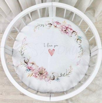 Детская простынь на резинке Маленькая Соня Heart and Flowers 70х70 см