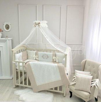 Детское постельное белье и бортики в кроватку Маленькая Соня Royal Пудровый 026035