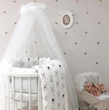 Комплект постельного белья Shine Алиса Маленькая Соня 0147232 белый 7 предметов