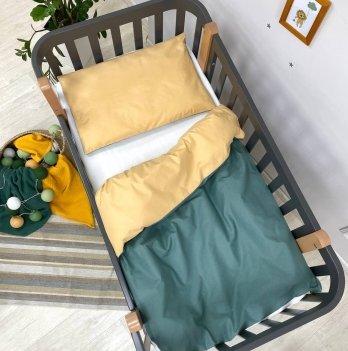 Детское постельное белье в кроватку Маленькая Соня Универсальный  Желтый/Зеленый 0300608