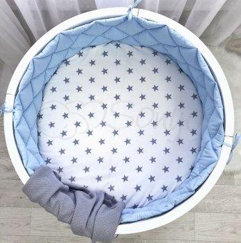 Бортики в кроватку Маленькая Соня Круг голубой Голубой 078107