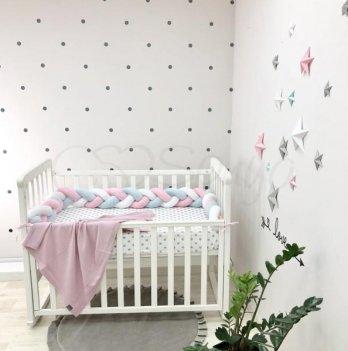 Защита для кроватки Коса Маленькая Соня 0758240 белый/мятный/розовый