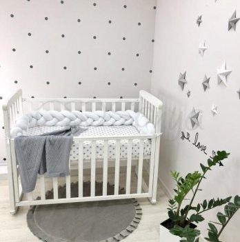Защита для кроватки Коса Маленькая Соня 0758239 белый
