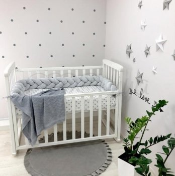 Защита для кроватки Коса Маленькая Соня 075852 серый