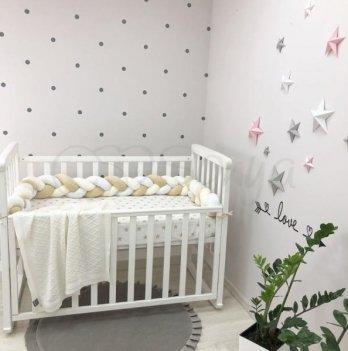Защита для кроватки Коса Маленькая Соня 0758241 белый/молочный/бежевый