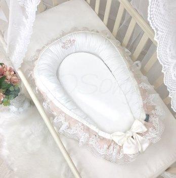 Кокон для новорожденных Маленькая Соня Royal Пудровый 506035