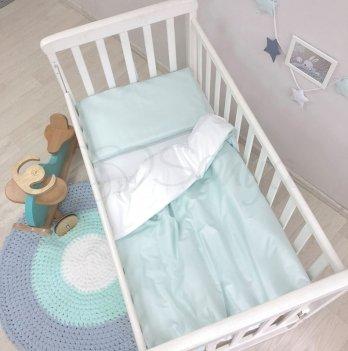 Детское постельное белье в кроватку Маленькая Соня Универсальный Мятный 0300390