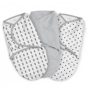 Набор пеленок коконов на липучках SwaddleMe Originall XO Серый 55726 3 шт