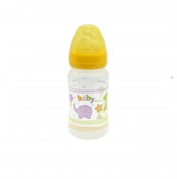 Бутылочка с широким горлом 6+ Baby Team 1002 желтый 250 мл