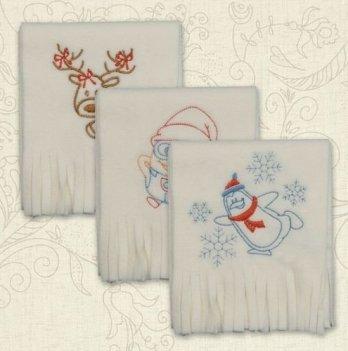 Шарфик флисовый для малышей Бетис Різдвяний, Пингвин