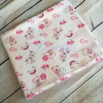 Пеленка фланелевая Мишки розовые, Маленькая Соня