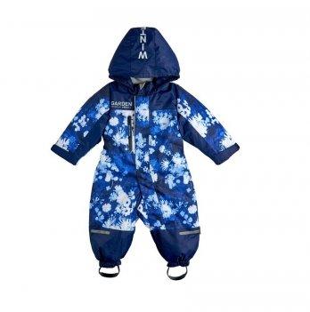 Комбинезон для девочки Цветы Garden baby 101018-63/33 синий
