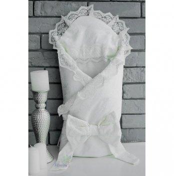 Конверт-одеяло для новорожденных Flavien 1018 жаккард молочный