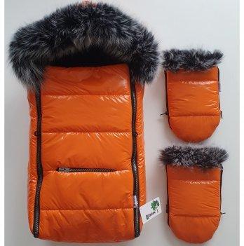 Зимний конверт в коляску Flavien Оранжевый 1020/3