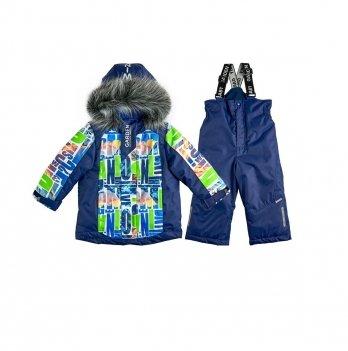 Комплект для мальчика Буквы Garden baby 102018-63/33 салатово-синий