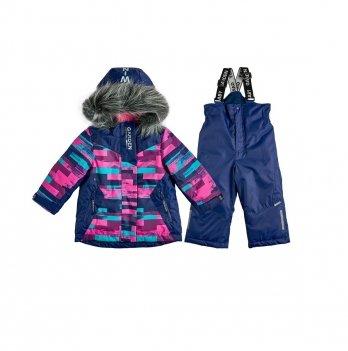 Комплект для девочки Полоски Garden baby 102019-63/33 малиново-синий