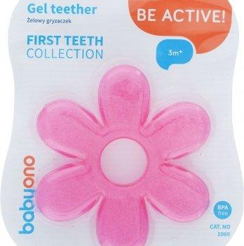 Прорезыватель для зубов гелевый, BabyOno 1060 розовый