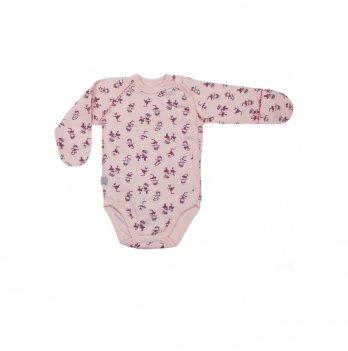 Боди - распашонка для новорожденного интерлок Smil Маленькая балерина Розовый с принтом 102470