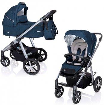 Универсальная коляска 2 в 1 Baby Design Husky NR 2020 Синий