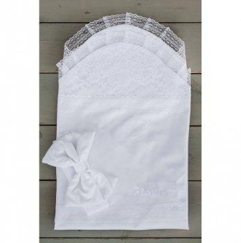 Летний конверт для новорожденного Flavien 1025/01 белый