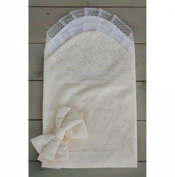 Летний конверт для новорожденного Flavien 1025/02 молочный